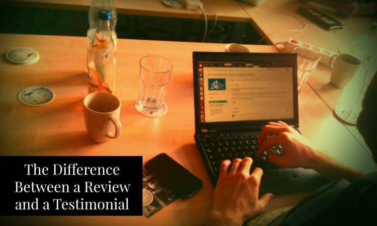 the difference between reviews and testimonials