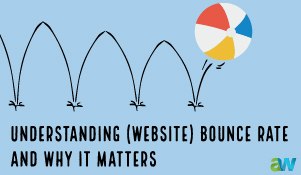 ALT= Atlantic Webworks blog on bounce rate for websites with a bouncing ball""